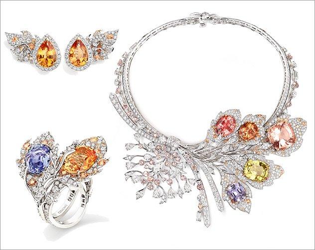 ca65602d7 مجوهرات من الأحجار الكريمة الملونة لعروس 2018