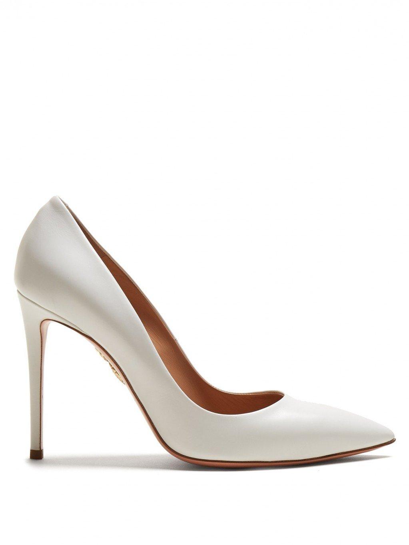 cd78d51aa أجمل أحذية الزفاف الكلاسيكيّة، الجذّابة وغير التقليديّة لعروس 2018