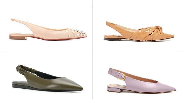 62fd1e442 موديل حذاء Slingback المسطّح والبعيد عن المبالغة... هو حليفكِ هذا الصيف  يفرض الموسم الصيفي انتعال أحذية مسطّحة مريحة مع اللوكات النهارية