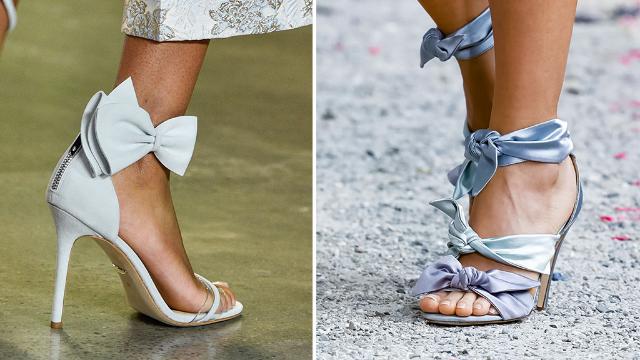 7d1e26d13 العقدة واحدة من التفاصيل التي نكّهت الأحذية في تصاميم مجموعات الأزياء  الجاهزة لربيع 2019.