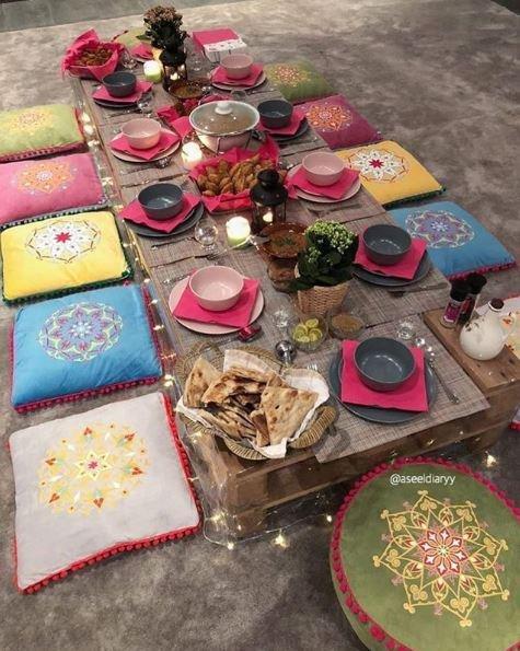14e123f0a 10 أفكار لتزيين سفرة رمضان بأفضل الطرق وأجمل الديكورات