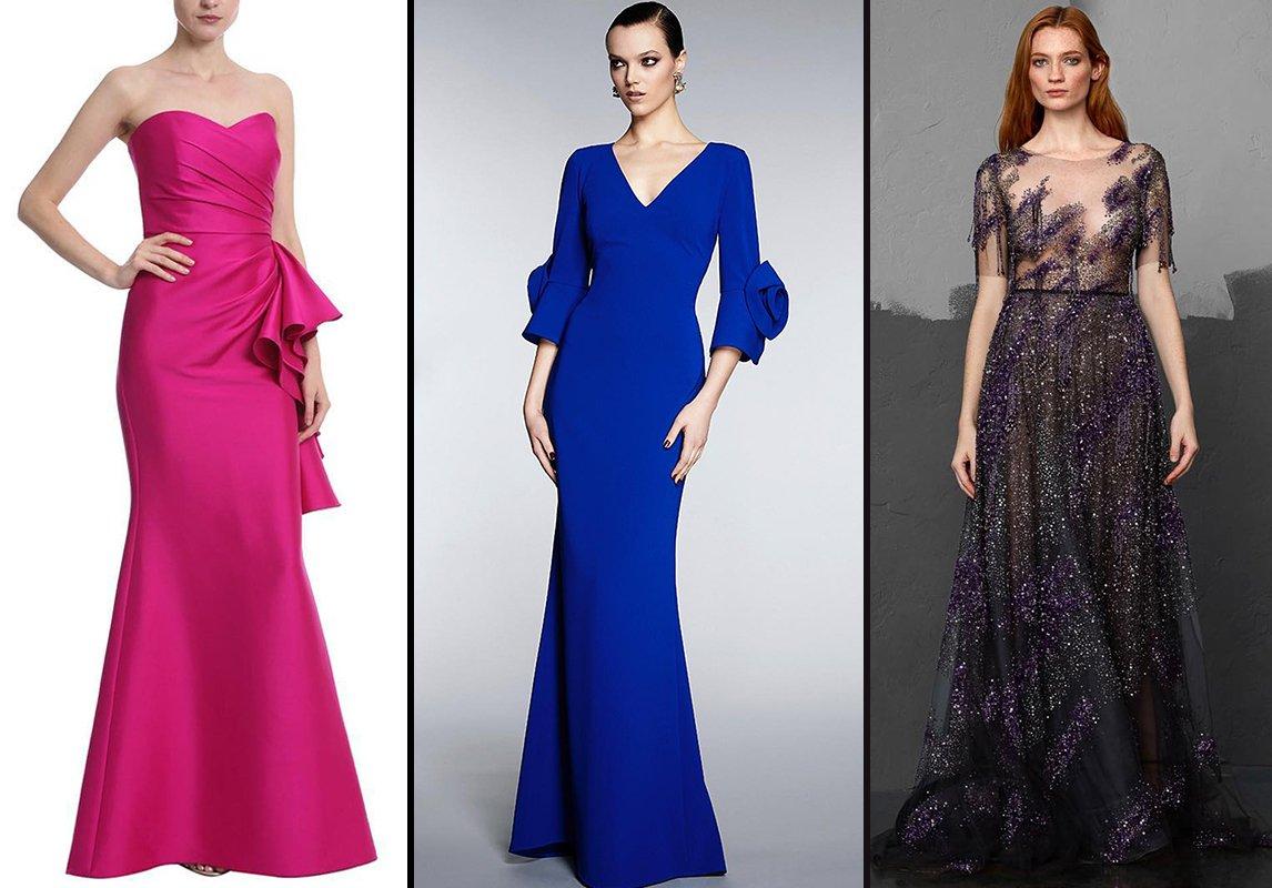 2358829c07ccb من اليمين إلى اليسار  فستان سهرة من Pamela Roland وFrascara وBadgley Mischka
