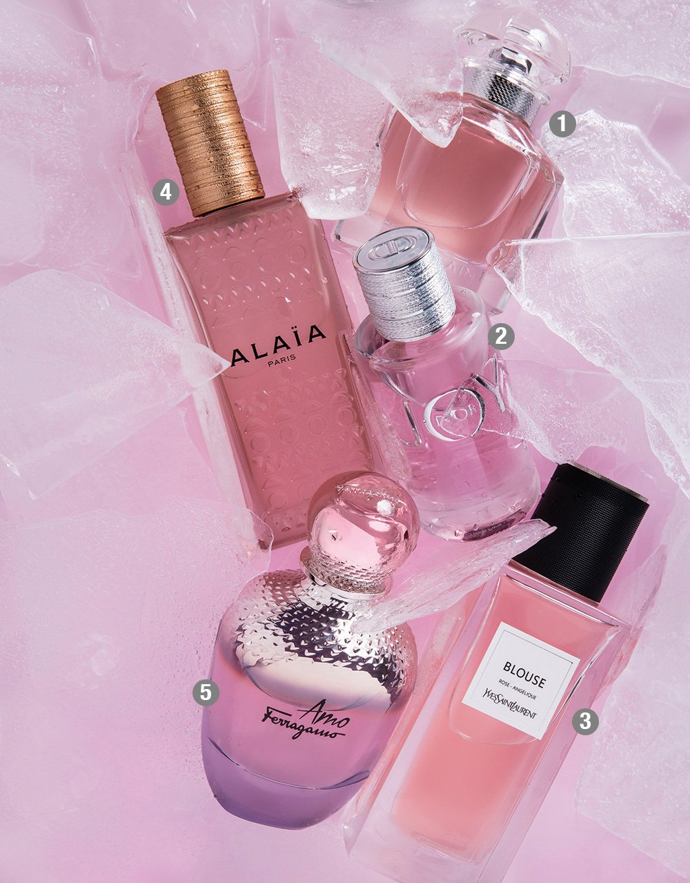 adef598d7 2- DIOR Joy Eau de Parfum 3- YVES SAINT LAURENT Blouse Le Vestiaire Des  Parfums Eau de Parfum 4- SALVATORE FERRAGAMO Amo Ferragamo Eau de Parfum