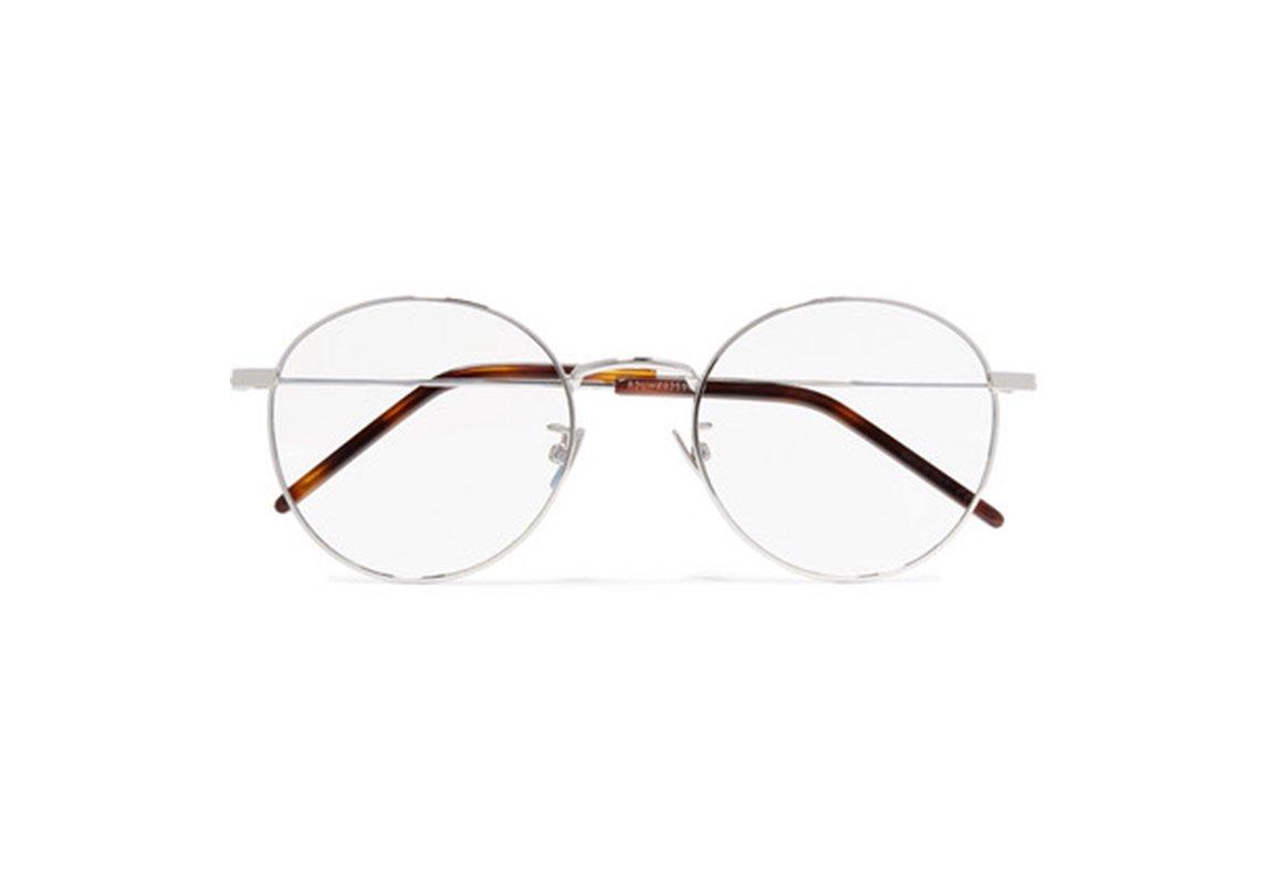 2f7dd4d51 نظارات طبية دائرية صغيرة من Saint Laurent موجودة لدى Net-a-Porter